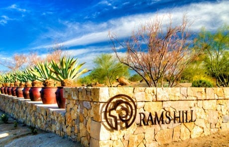 Rams Hill entrance way