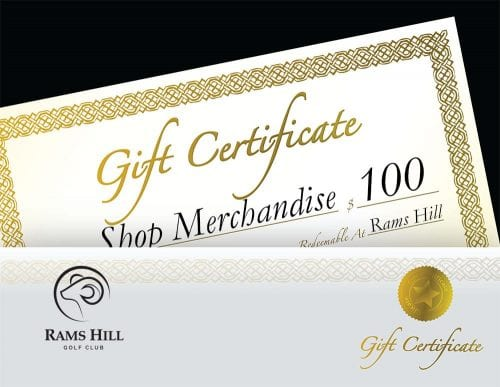 Gift Certificate Pro Shop $250