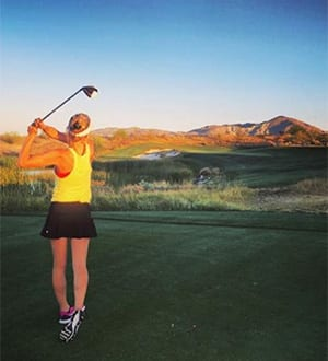 woman golfing borrego springs