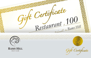 certificados de regalo de rams hill