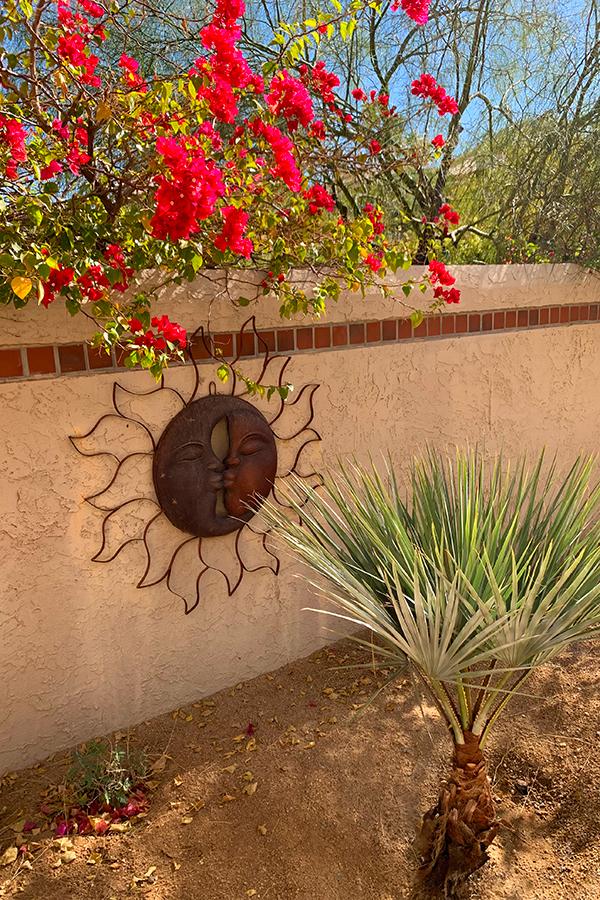 Courtyard Artwork, Native Desert Sun Golf House, Rams Hill