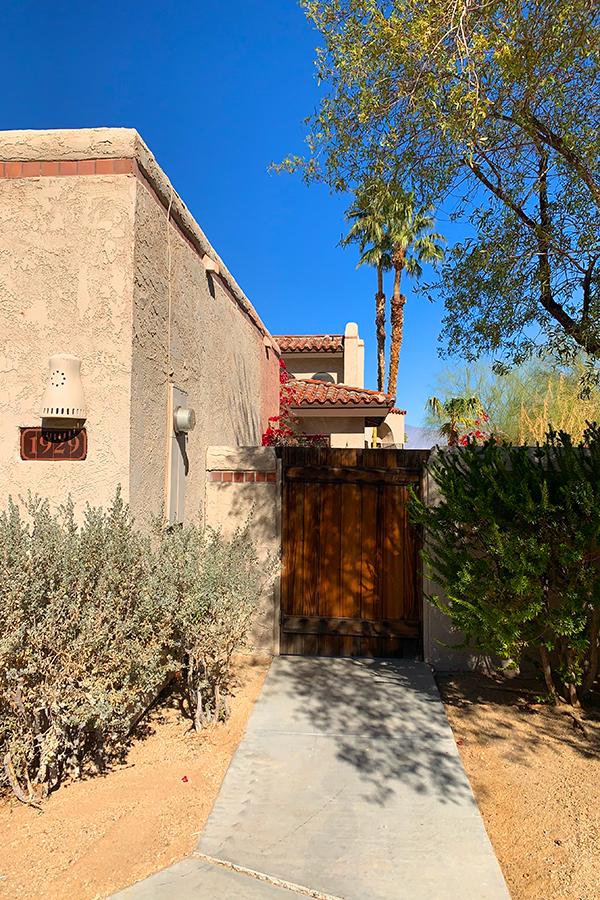 Gate Entrance, Native Desert Sun Golf House, Rams Hill