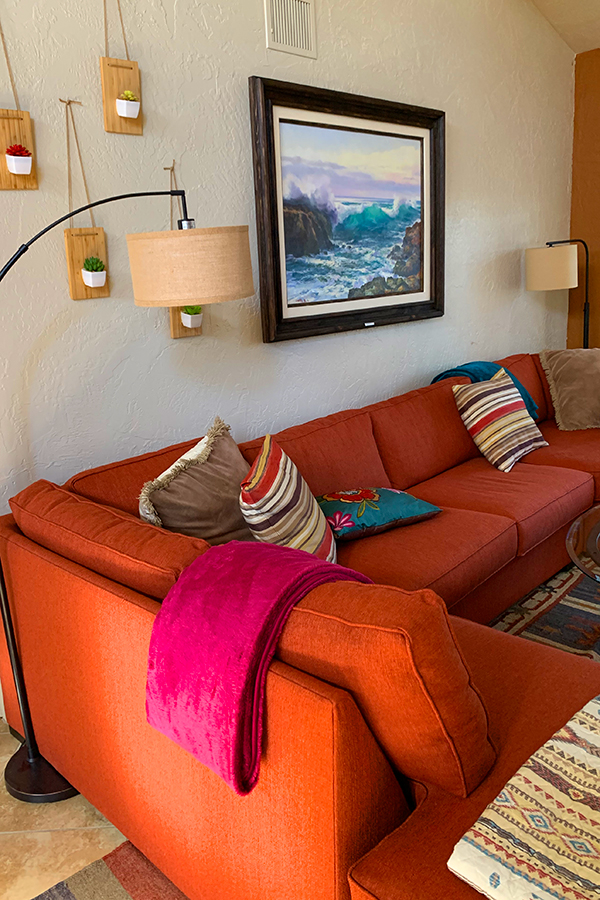 Living Room Couch, Native Desert Sun Golf House, Rams Hill
