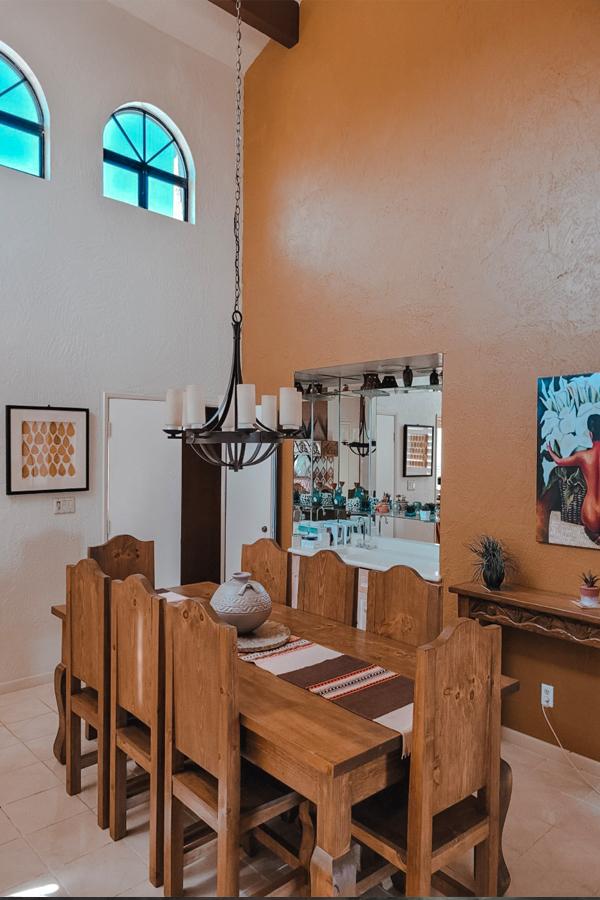 the Native Desert Sun wooden dining room