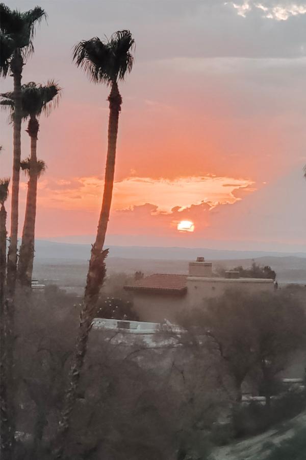 the Native Desert Sun Rams Hill golf house sunrise