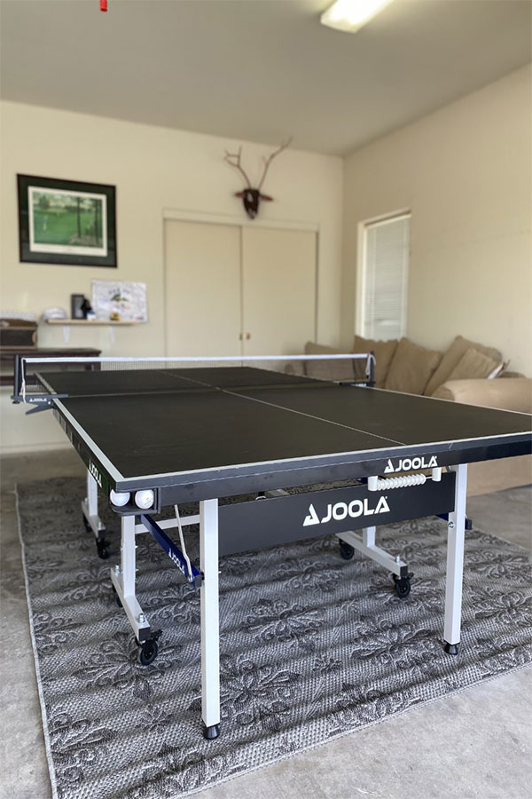 Ping Pong table at Left8 Rams Hill Golf House