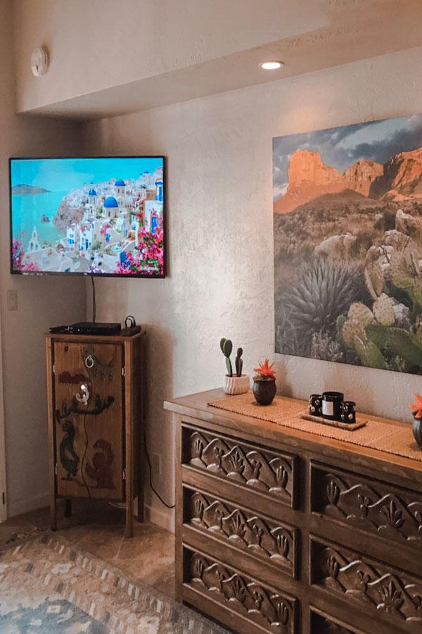 native desert sun bedroom tv