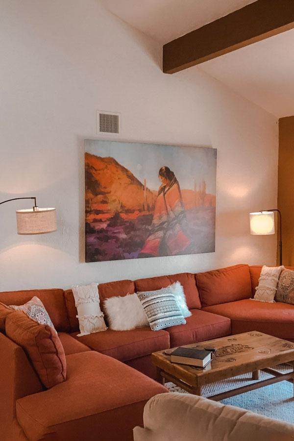 native desert sun living room couch