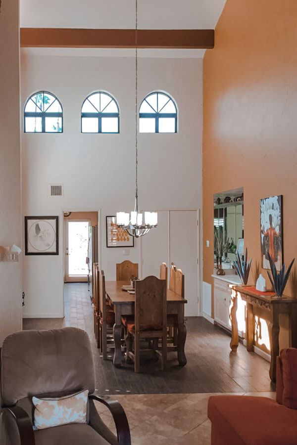 native desert sun living room hallway